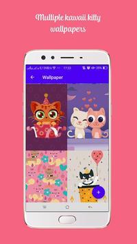 Kawaii Kitty Lock Screen - Kitty Pink Lock Screen screenshot 3