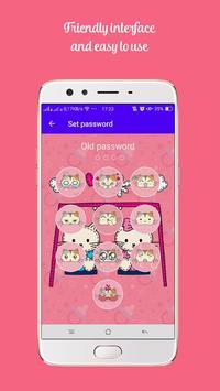 Kawaii Kitty Lock Screen - Kitty Pink Lock Screen screenshot 2