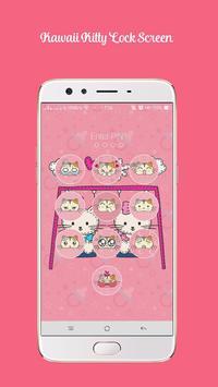 Kawaii Kitty Lock Screen - Kitty Pink Lock Screen screenshot 5