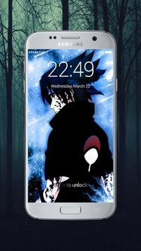 Sasuke lock screen apk screenshot
