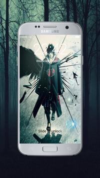 Sasuke lock screen poster
