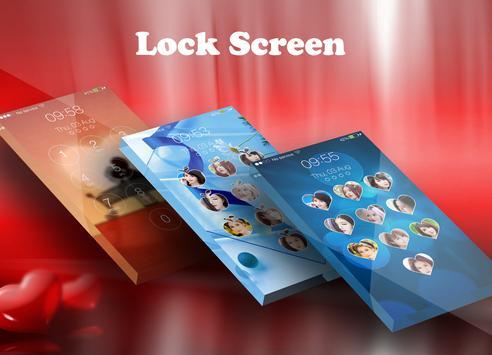 love keypad lockscreen poster