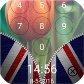 Flags Zipper Lock Screen icon