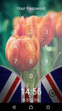 Flags Zipper Lock Screen poster