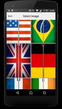 Flags Zipper Lock Screen apk screenshot