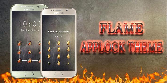 Applock Theme Flame poster