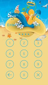 Applock Theme Beach apk screenshot