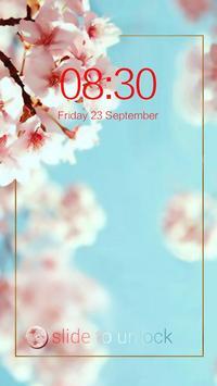 AppLock Theme Blooming Flowers screenshot 2