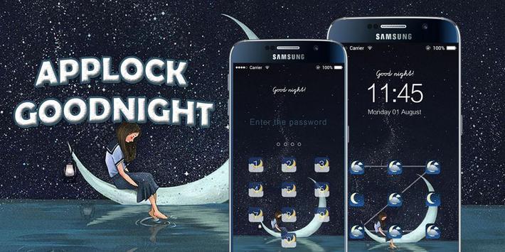 AppLock Theme Good Night poster