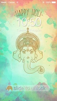 AppLock Theme Happy Holi screenshot 3