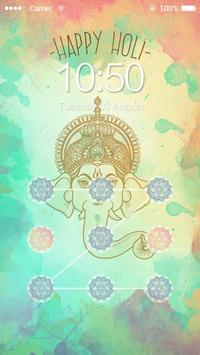 AppLock Theme Happy Holi screenshot 1