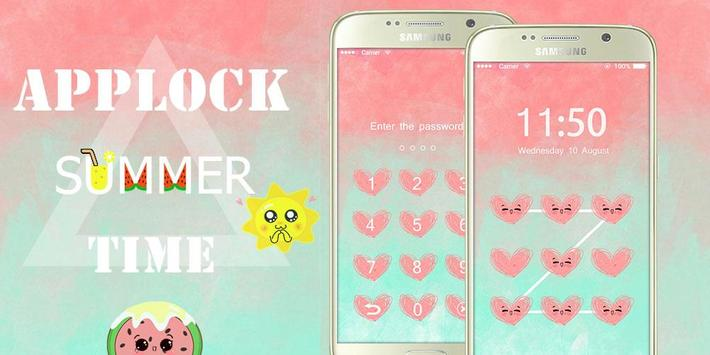 AppLock Theme Summer Time poster