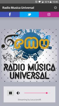 Radio Musica Universal poster
