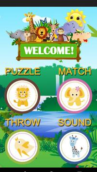 Zoo Animal Game For Toddlers poster