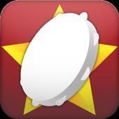 Xmas instrument, tambourine icon