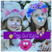 Sweet Girl-Photo Square Editor icon
