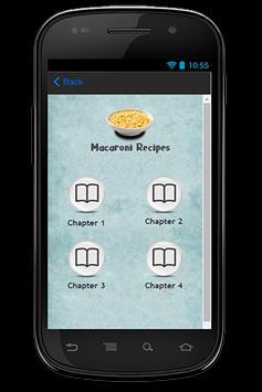 Macaroni Recipes apk screenshot