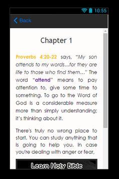 Learn Holy Bible Guide apk screenshot