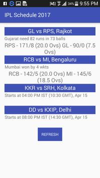 Schedule of 2017 - Live T20 apk screenshot