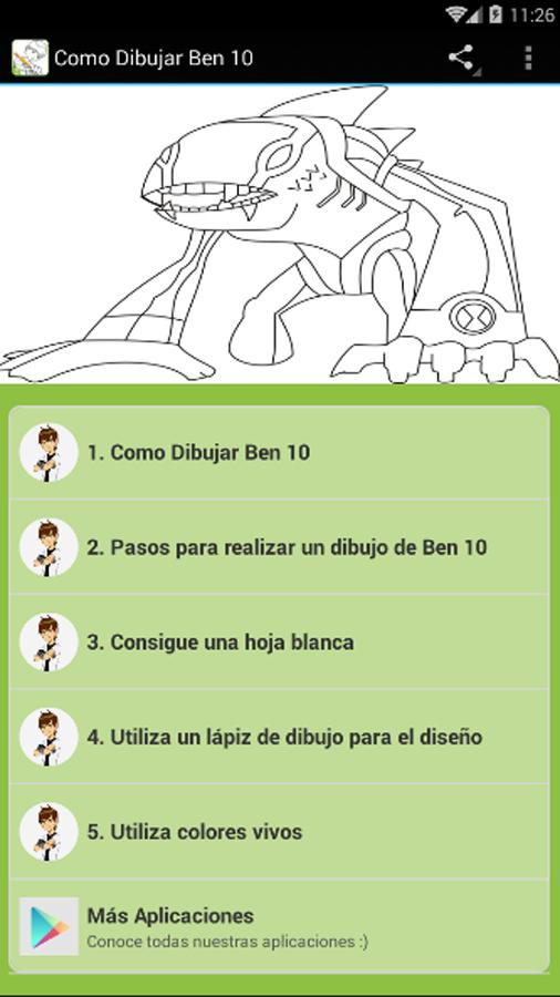 Como Dibujar Ben 10 For Android Apk Download