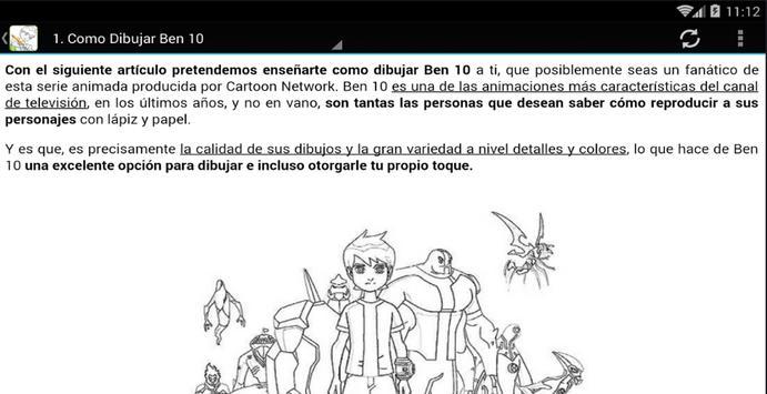 Como Dibujar Ben 10 apk screenshot