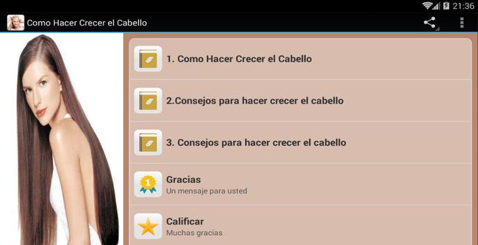 Como Hacer Crecer el Cabello screenshot 5