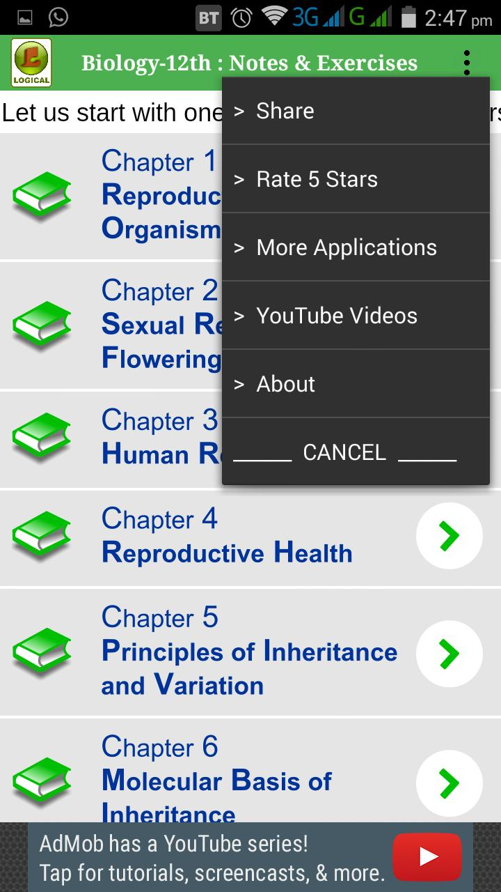 Biology-12th : Notes & Exercises for Android - APK Download