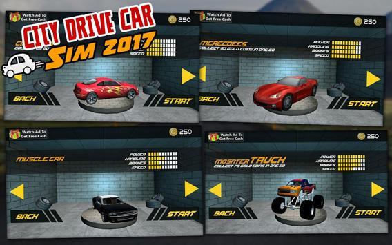 City Drive Car Sim 2017 apk screenshot