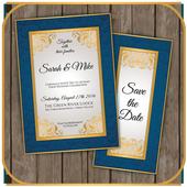 Wedding invitation card maker free icon