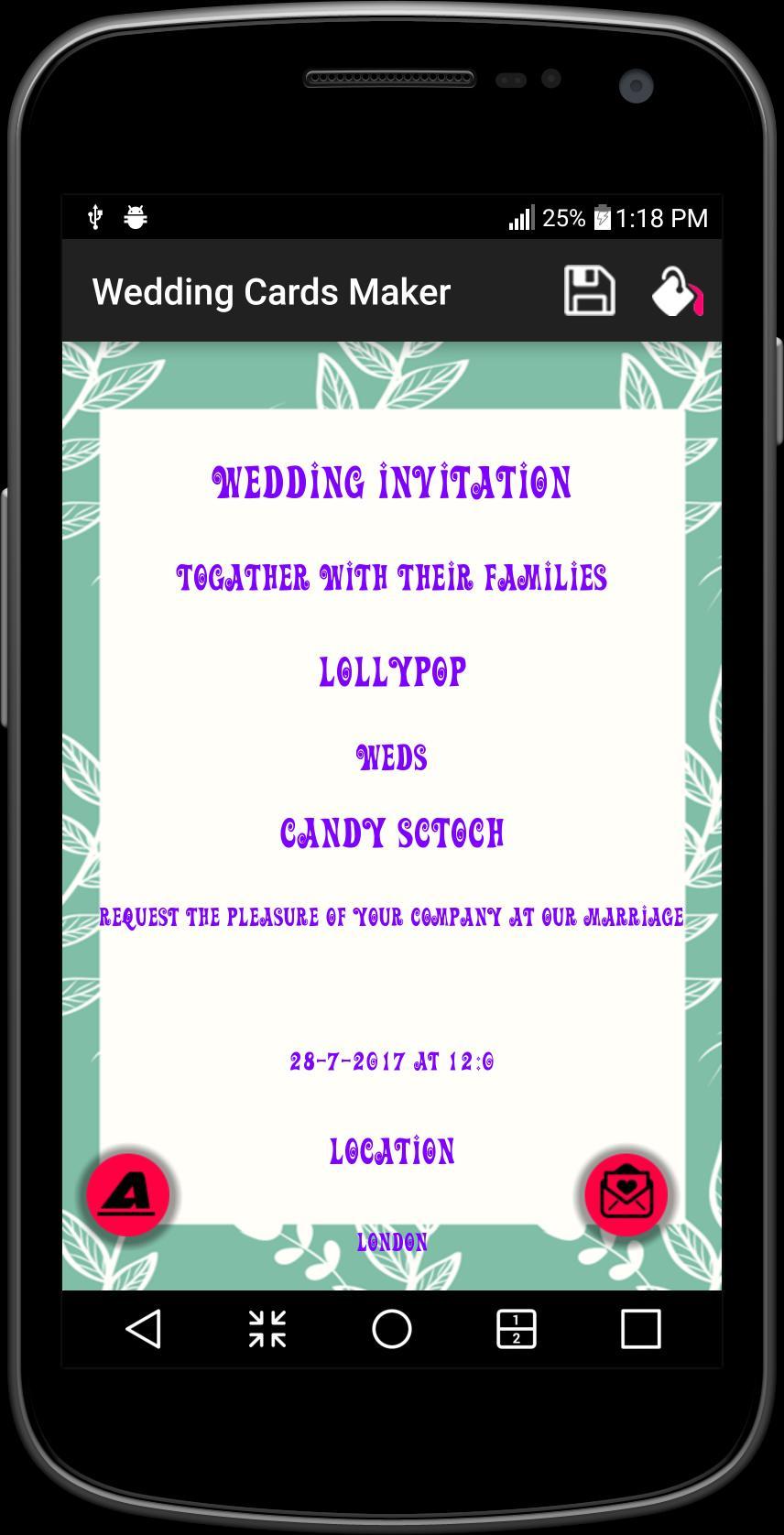 Wedding invitation card maker free poster
