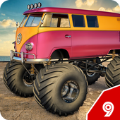 Monster truck toy Impossible drive icon