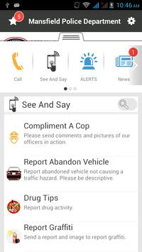 Mansfield Police Department screenshot 2