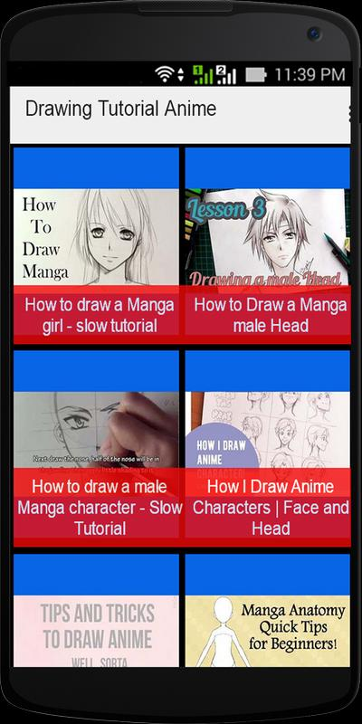 Drawing Tutorial Anime For Android Apk Download