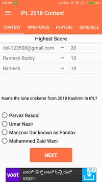 IPL 2018 Contest(Play and Win  Exciting Prizes) screenshot 4