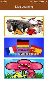 kids Alphabets Learning(Animals,Countries,Flowers) screenshot 1