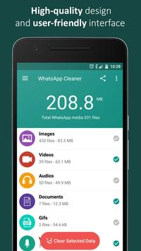 Turbo Cleaner for WhatsApp poster