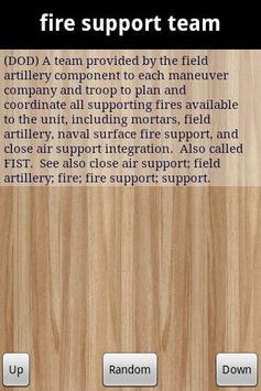 DOD Military Glossary Lite screenshot 1