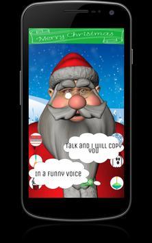 Funny Talking Santa poster