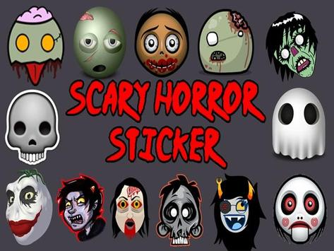 Scary Horror Sticker poster