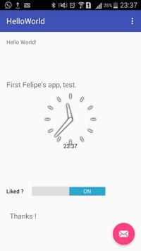 Hello World - Felipe apk screenshot