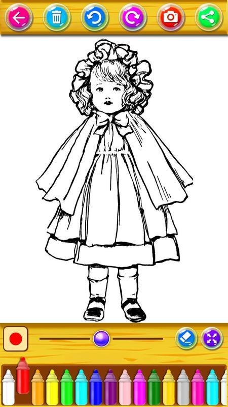 Cómo colorear lindas muñecas y princesas for Android - APK Download