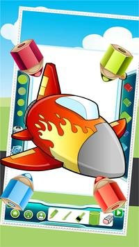 Flying on Plane Coloring Book screenshot 4