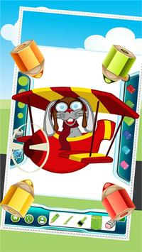 Flying on Plane Coloring Book screenshot 5