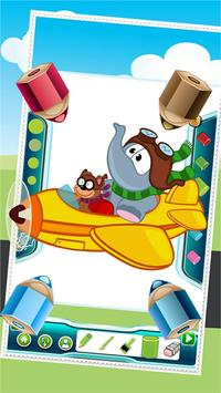 Flying on Plane Coloring Book screenshot 1