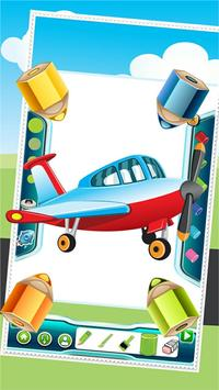 Flying on Plane Coloring Book screenshot 3