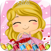 Sweet Little Girl ColoringBook icon