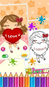 Sweet Little Girl ColoringBook screenshot 3