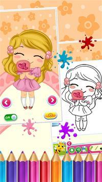 Sweet Little Girl ColoringBook screenshot 14