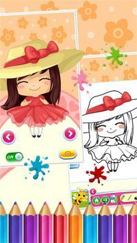 Sweet Little Girl ColoringBook screenshot 1