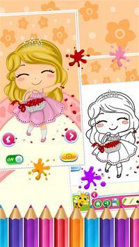 Sweet Little Girl ColoringBook screenshot 2